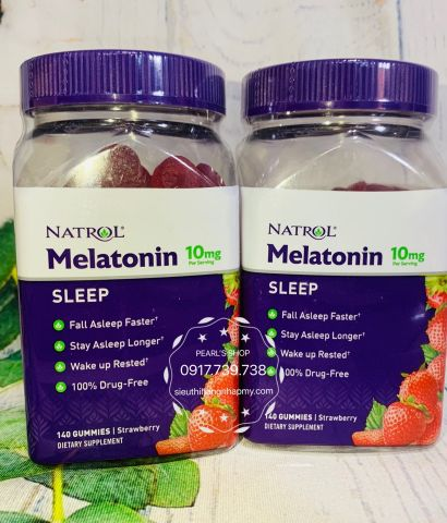 MELATONIN GUMMIES 10mg NATROL 140 viên