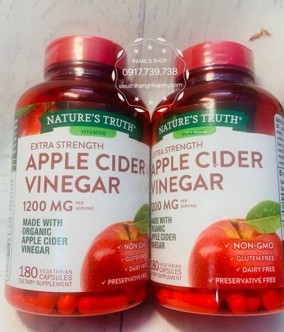 Viên giấm táo APPLE CIDER VINEGAR Nature's Truth 180 viên