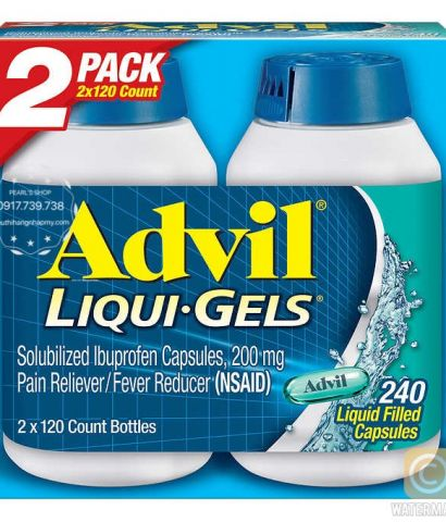 ADVIL LIQUID GELS 2 x 120