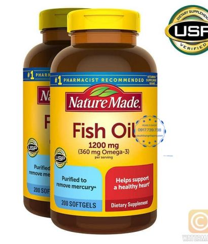 Viên dầu cá FISH OIL 1200mg - NATURE MADE