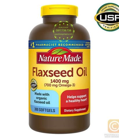 FLAXSEED OIL 1400mg NATURE MADE 300 viên