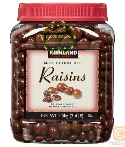 MILK CHOCOLATES RAISINS 1.5KG Kirkland