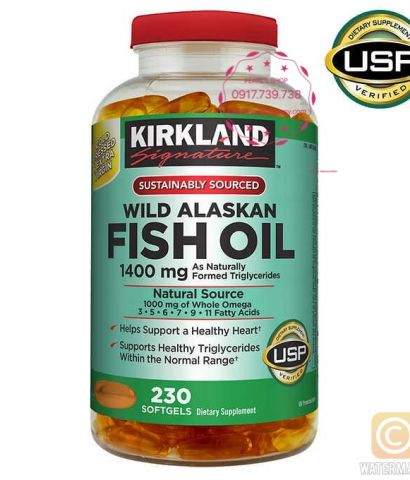 WILD ALASKAN FISH OIL KIRKLANDS 230 viên