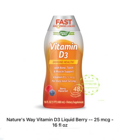 Vitamin D3 liquid Nature,s Way 480ml
