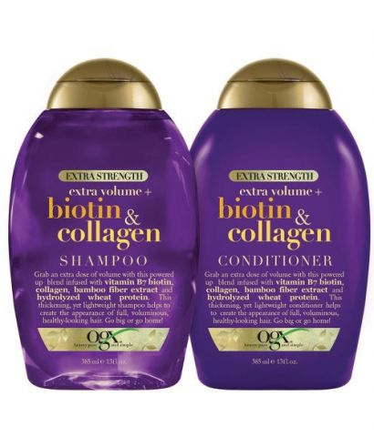 Bộ dầu gội EXTRA STRENGTH BIOTIN & COLLAGEN 385ml